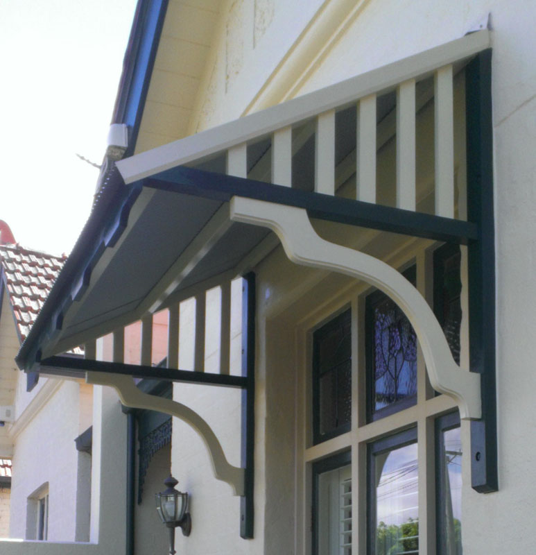 Timber window canopies geelong surf coast awnings for Exterior canopy design
